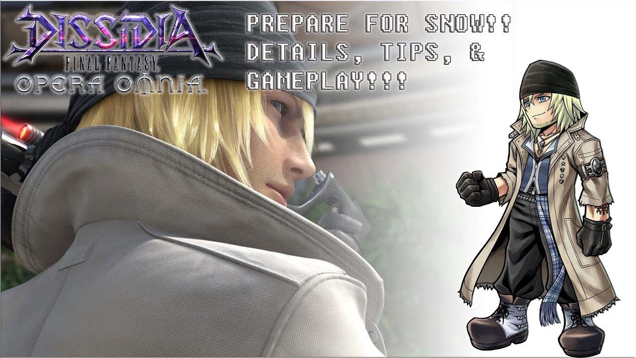 Dissidia Final Fantasy Opera Omnia Prepare For Snow