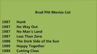 brad pitt movies list in order