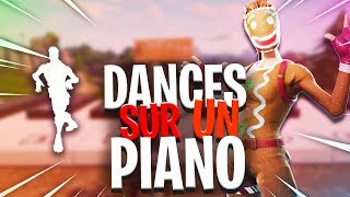 PLAYING FORTNITE DANCES ON RETAIL ROW'S PIANO! (Fortnite: Battle Royale)