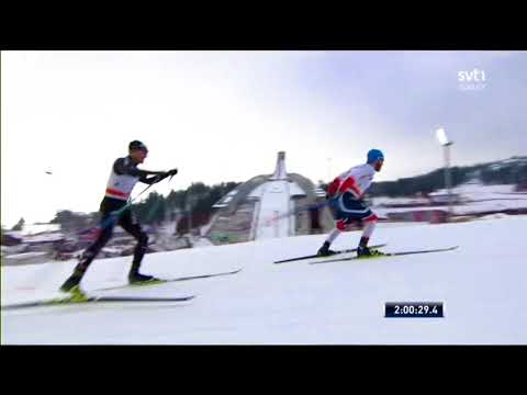 Men's 50 km (F) - WC Holmenkollen, Olso 2018 - Last kilometer, Dario Cologna vs Martin J. Sundby