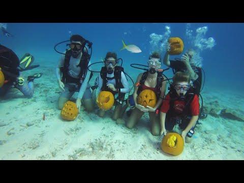Eric Hunter - Underwater Pumpkin Carving In The Keys