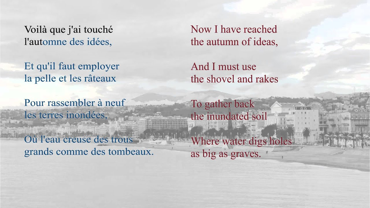 French Poem - L'Ennemi by Charles Baudelaire - Slow Reading - YouTube