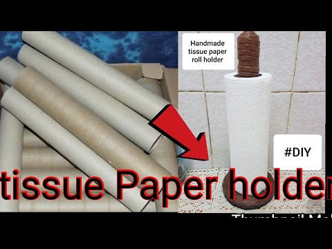 #DIY .Best out of waste ..HOW TO MAKE TISSUE PAPER ROLL HOLDER with old news paper
