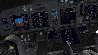 [X-PLane 11 VR] EDDM (Munich) to LIPZ (Venezia) with Zibo 737-800 - Completely in VR (German)