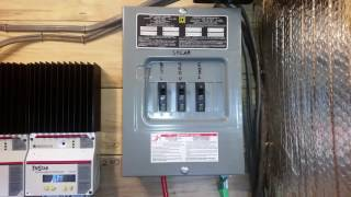 Changes to the 24 volt solar power system