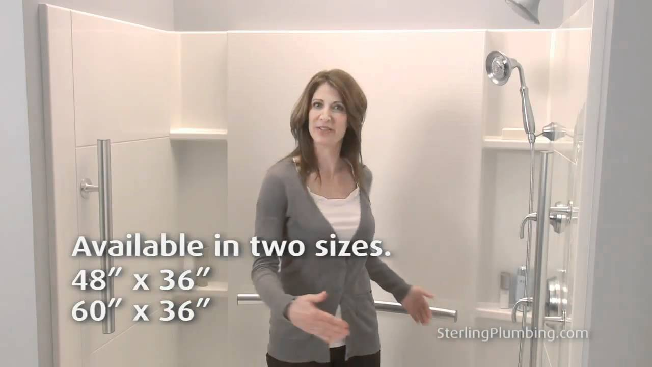 Sterling Plumbing Videos Accord Seated Shower - YouTube