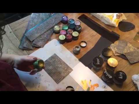 papier omtoveren in metaal met gilding wax