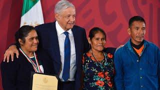 Premio Nacional de Derechos Humanos 2019. Conferencia presidente AMLO