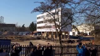 14.02.2017 - Sprengung des alten Norma-Logistikgebäudes in Fürth