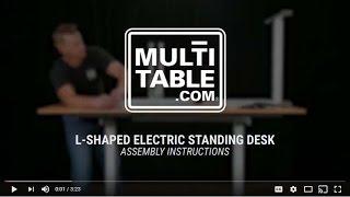 multitable l shaped standing desk easy assembly