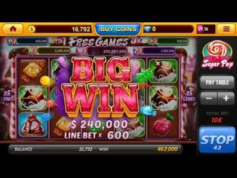 Real Casino Slot $ Sugar Pop 🎰 Android Gameplay Vegas Casino Slot Jackpot Big Mega Wins Spins