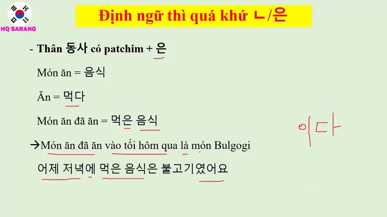 [HỌC TIẾNG HÀN] ĐỊNH NGỮ DANH TỪ - PHẦN 2 - RẤT QUAN TRỌNG!!   Hàn Quốc Sarang