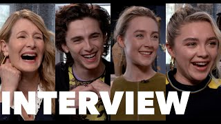 LITTLE WOMEN Fun Interviews: Saoirse Ronan, Timothee Chalamet, Florence Pugh, Laura Dern, Gerwig