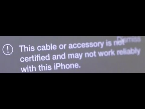 The cable or accessory is not certified Apple iPhone iPad - YouTube
