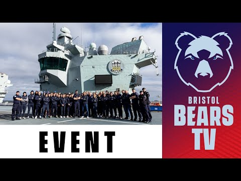 Staff And Players Visit HMS Prince Of Wales