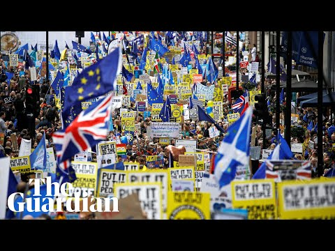 Brexit: Thousands attend people's vote march in London – watch live