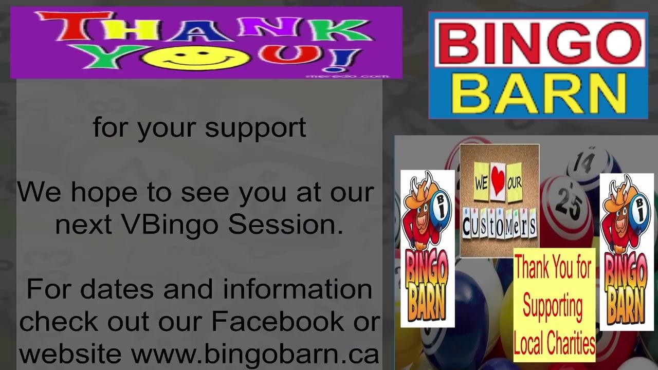 BINGO BARN  - LIVE VBINGO - SATURDAY JUNE 5th, 2021 - 6:00PM