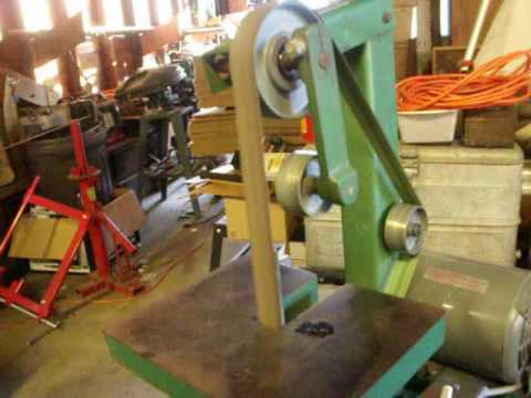 Dayton 42 Quot By 1 Quot Belt Sander Grinder With Stand Youtube