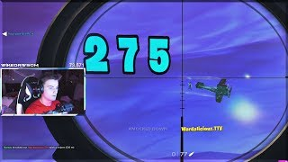 When a Fortnite TTV Streamer gets sniped 230m out of a plane..