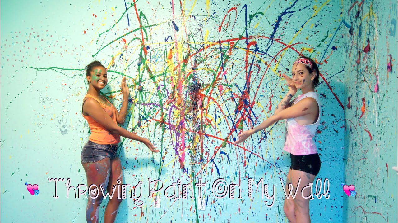 throwing paint on my wall youtube