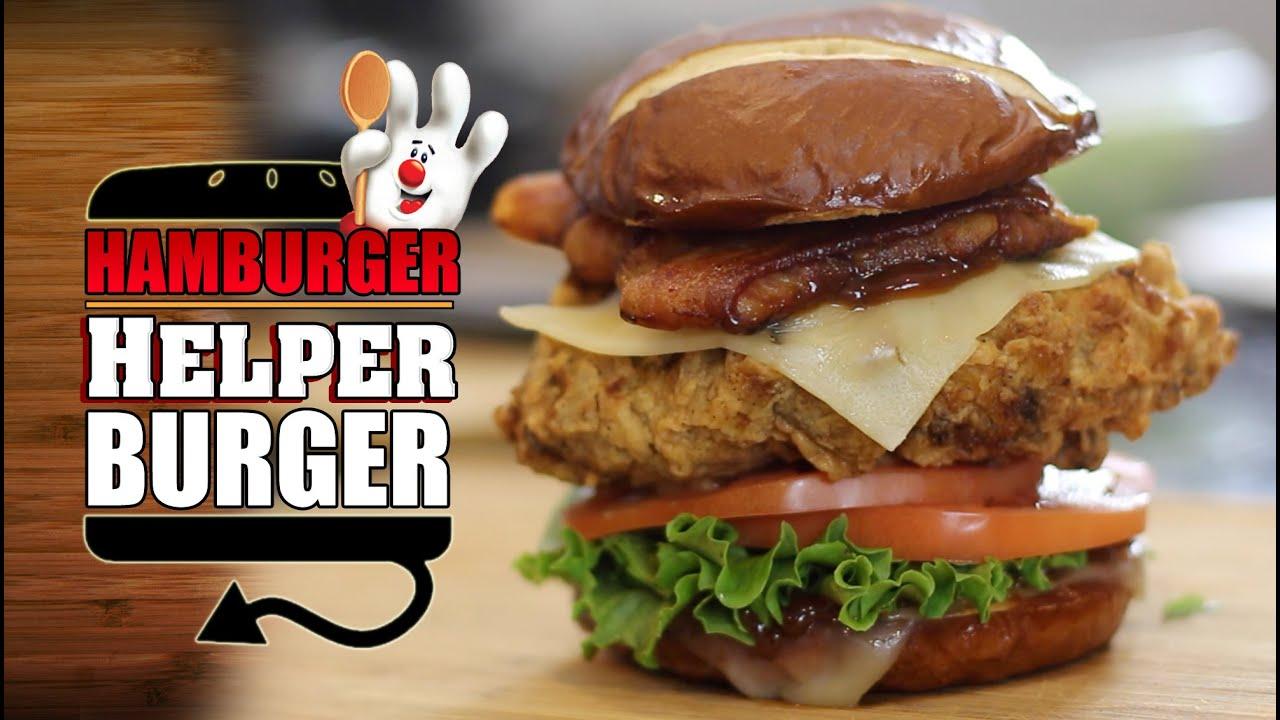 Deep Fried Hamburger Helper Burger Youtube
