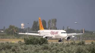 Landing-Takeoff / Pegasus A320-214(WL) / EDO (KOCA SEYİT) Airport Balıkesir