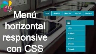 Menu horizontal responsive con HTML y CSS