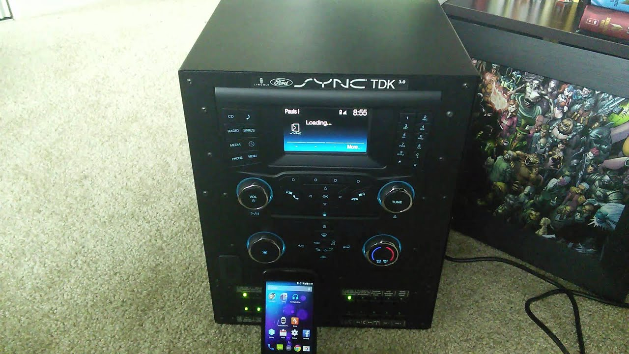 ford sync applink android demo playing online audio youtube. Black Bedroom Furniture Sets. Home Design Ideas