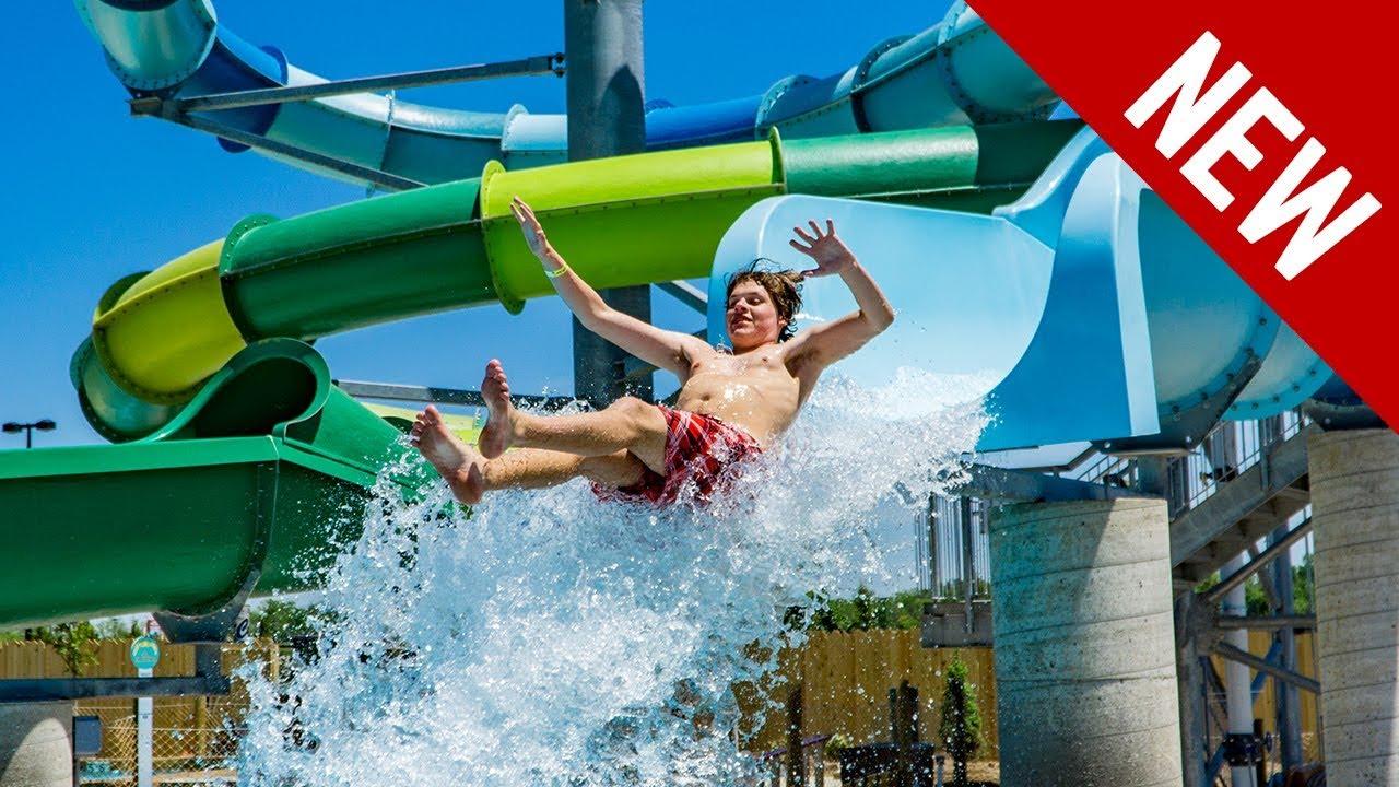 blue sandpiper splash new 2018 drop slide at zoombezi bay youtube