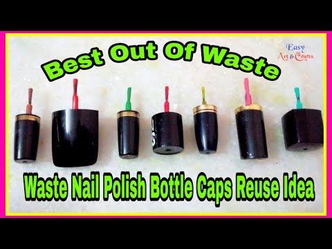 Best Use Of Waste Nail Polish Cap Craft Ideas - Best Out Of Waste Craft - Craft, Art & Crafts