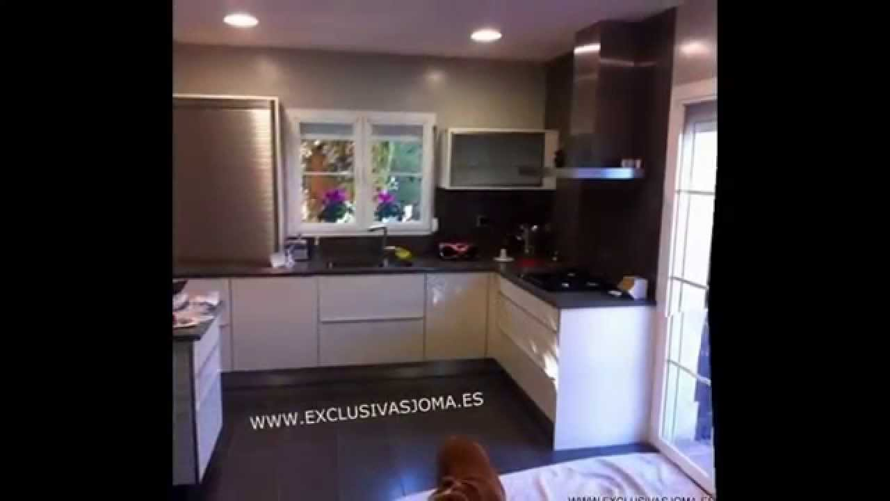 Muebles de cocina en color blanco y negro. Exclusivas Joma - YouTube