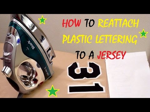 How To Reattach Plastic Lettering To A Jersey