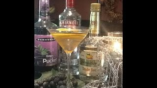 A grape and orange martini recipe that will be the hit of the party.