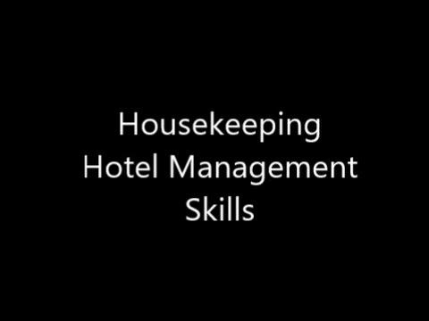 Housekeeping Management Skills - YouTube