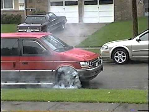 Minivan Blowing up Transmission doing a burnout