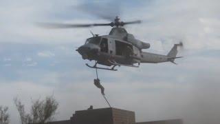 U.s. Marine Corps Fast Rope Training Near Yuma, Az