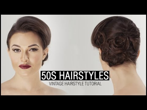 How To Do 50S HAIRSTYLE - Vintage Hairstyle Tutorial
