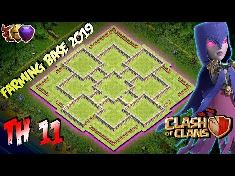BEST! Farming Base Town Hall 11 (TH11) 2019! - Hybrid Farming Base Clash Of Clans