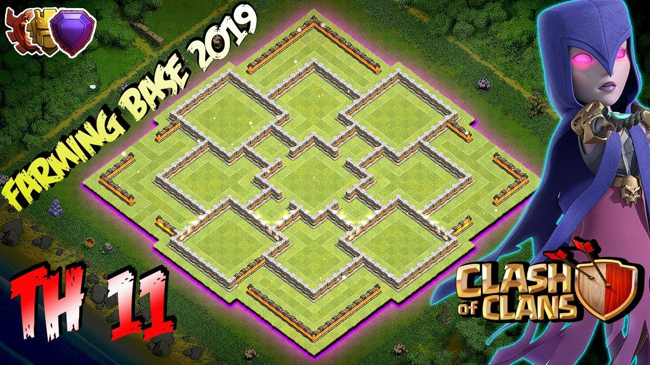 Best  Farming Base Town Hall 11  Th11  2019