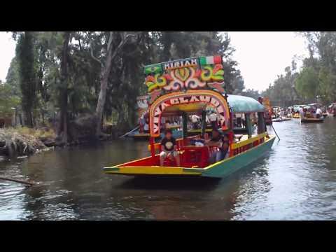 Каналы в Сочимилько, Мехико. Xochimilco, Mexico.