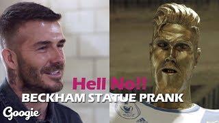 David Beckham Statue Prank by James Corden