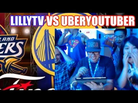LILLY TV VS UBERYOUTUBER @ EA PLAY FINALS CAVS VS WARRIORS!! NBA LIVE MOBILE