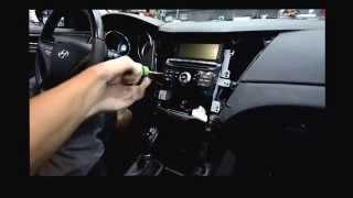Sonata YF как снять центральную консоль.