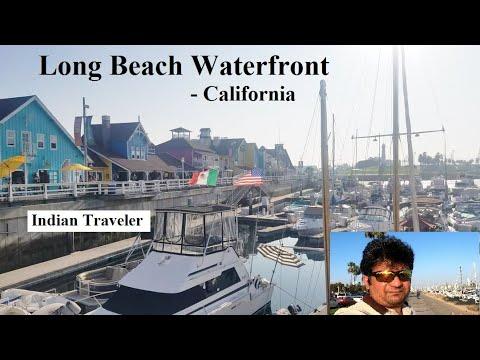 Long Beach Waterfront, California: Shoreline Village, Rainbow Harbor and Queen Mary