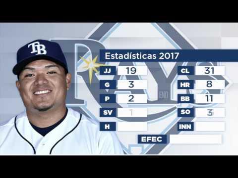 Números de Erasmo Ramírez en la actual temporada