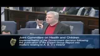 Michael Nugent speaking at abortion law hearings in Irish parliament