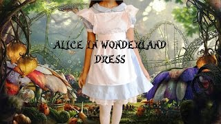 DIY Simple Alice in Wonderland Dress