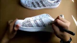 Doodle Shoes : Adidas Superstar 1