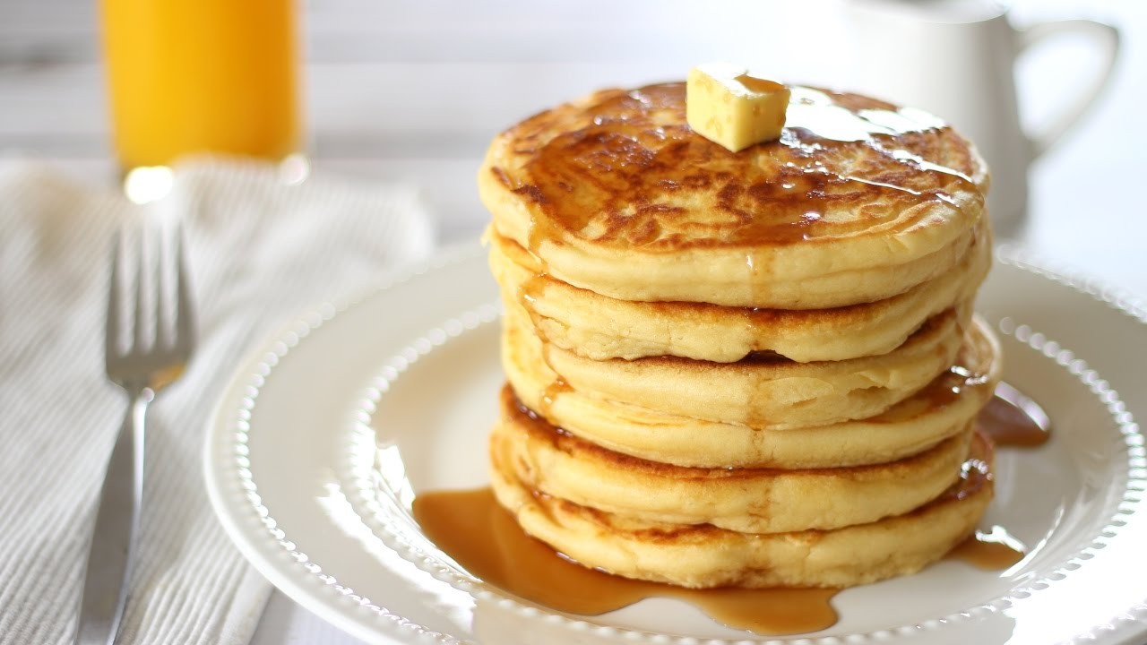 How to make pancakes fluffy pancake recipe youtube ccuart Gallery