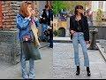 Street style 2018 with denim jacket